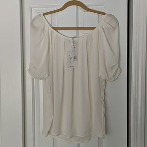 NWT Joie 100% silk s/s top
